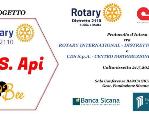 Progetto S.O.S. Api: sottoscritto il protocollo d'intesa tra CDS e il Rotary Distretto 2110 Sicilia e Malta